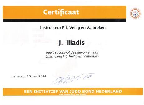 Certificaat Instructeur Fit, Veilig en Valbreken 2014 JBN J