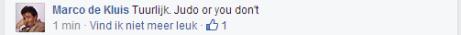 Reactie op FB Marco de KLuis